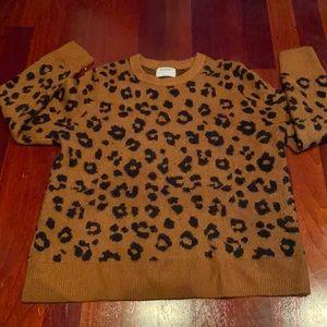 Cozy leopard print sweater